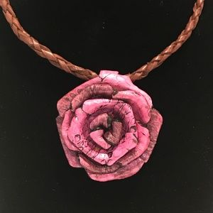 Jewelry - 🆕 Rose Woven Leather Chain Necklace